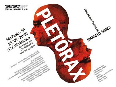 Pletórax: performance poética de Marcelo Sahea